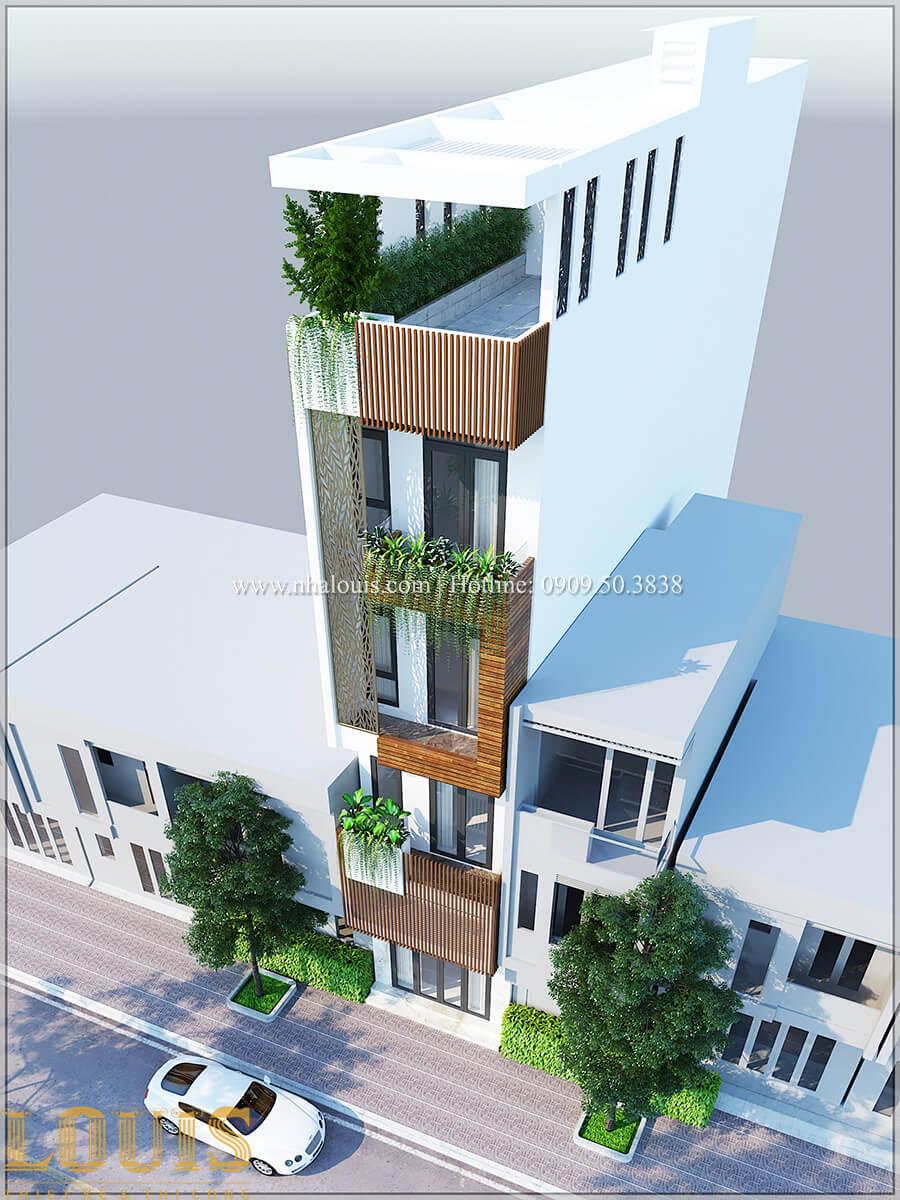 Mặt tiền Thiết kế cải tạo nhà 6 tầng đẹp không ngờ tại Quận 6 - 04
