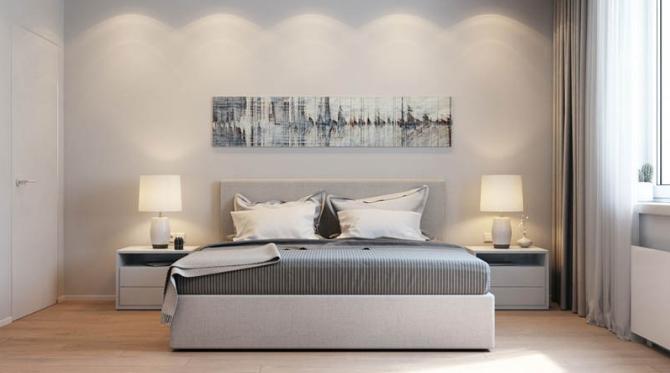 Mẹo bố trí giường phòng ngủ nhà ống 3 tầng mặt tiền 5m đẹp