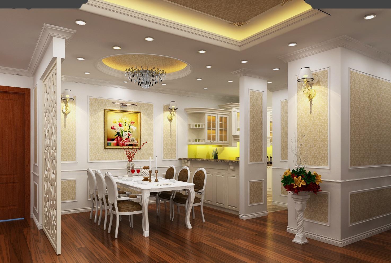 Cách trang trí nội thất phòng bếp theo phong cách cổ điển đẹp