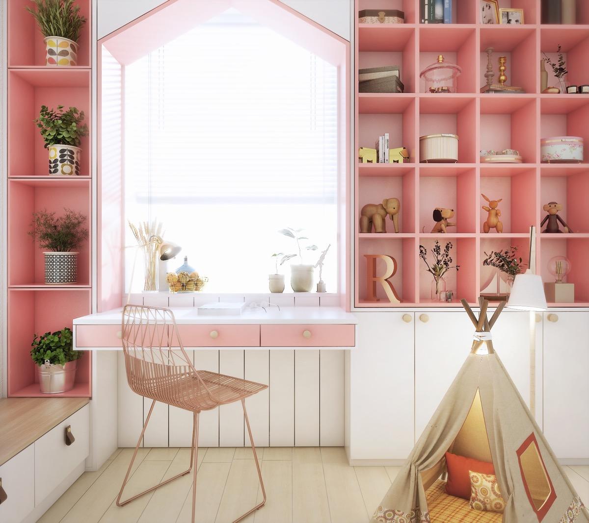 Bật mí 5 cách thiết kế phòng ngủ cho bé gái đẹp mê ly 05