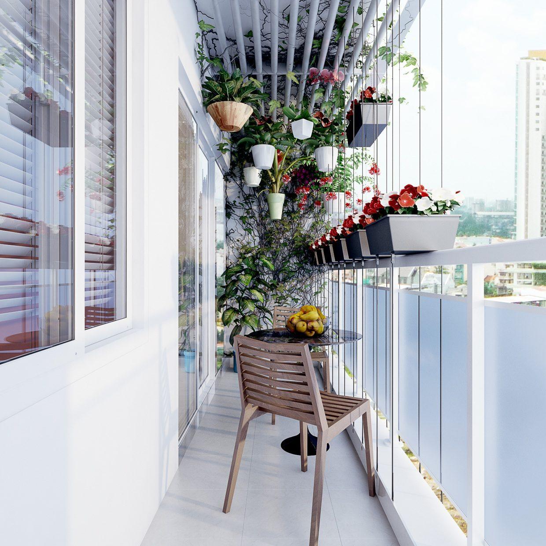 Những ý tưởng trang trí ban công chung cư đẹp đến xiêu lòng 02