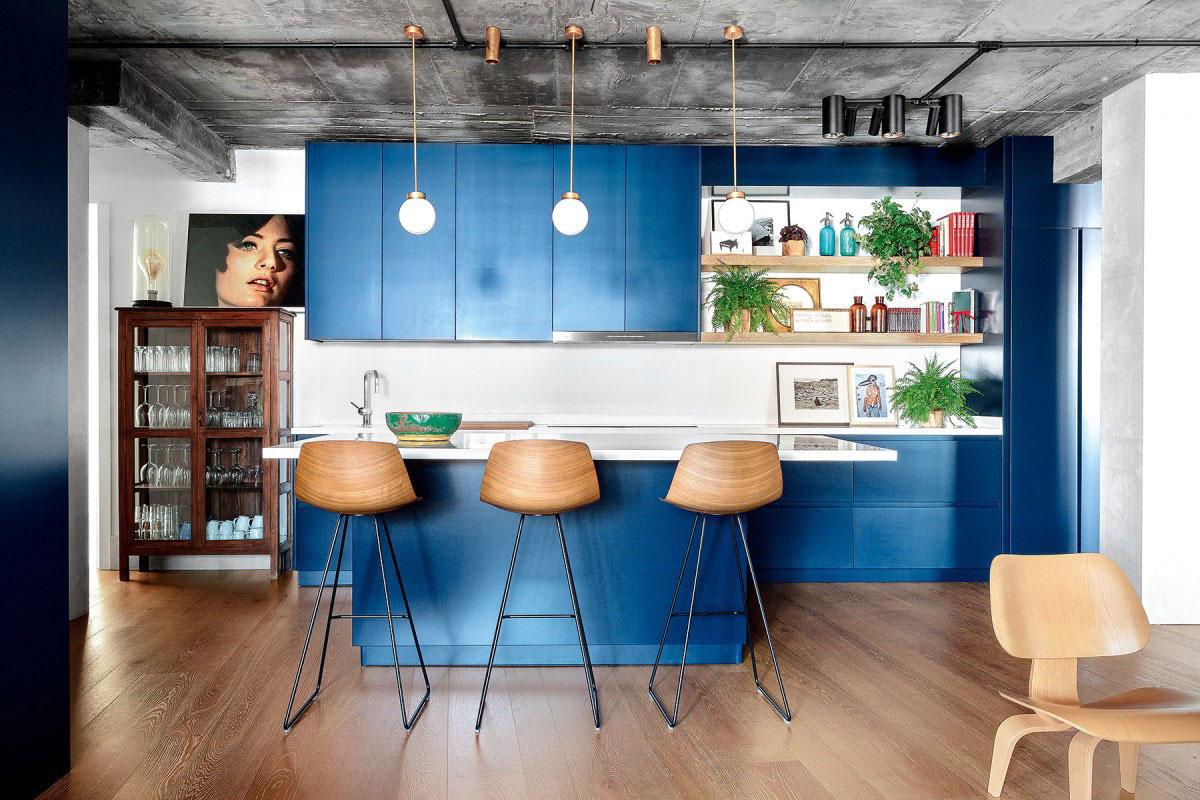 Hé lộ 9 mẫu tủ bếp hiện đại đẹp tông màu xanh đốn tim triệu người 03