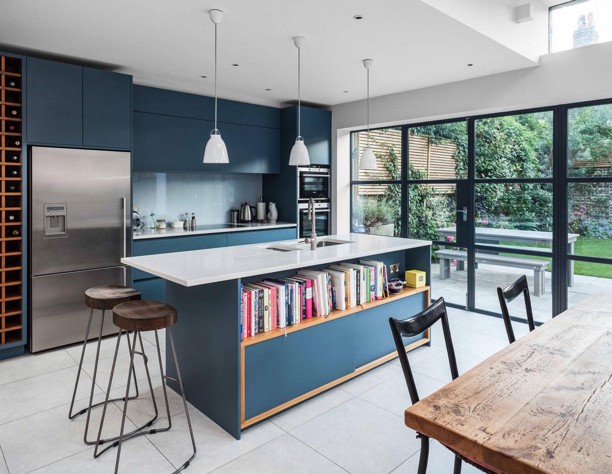Hé lộ 9 mẫu tủ bếp hiện đại đẹp tông màu xanh đốn tim triệu người 05