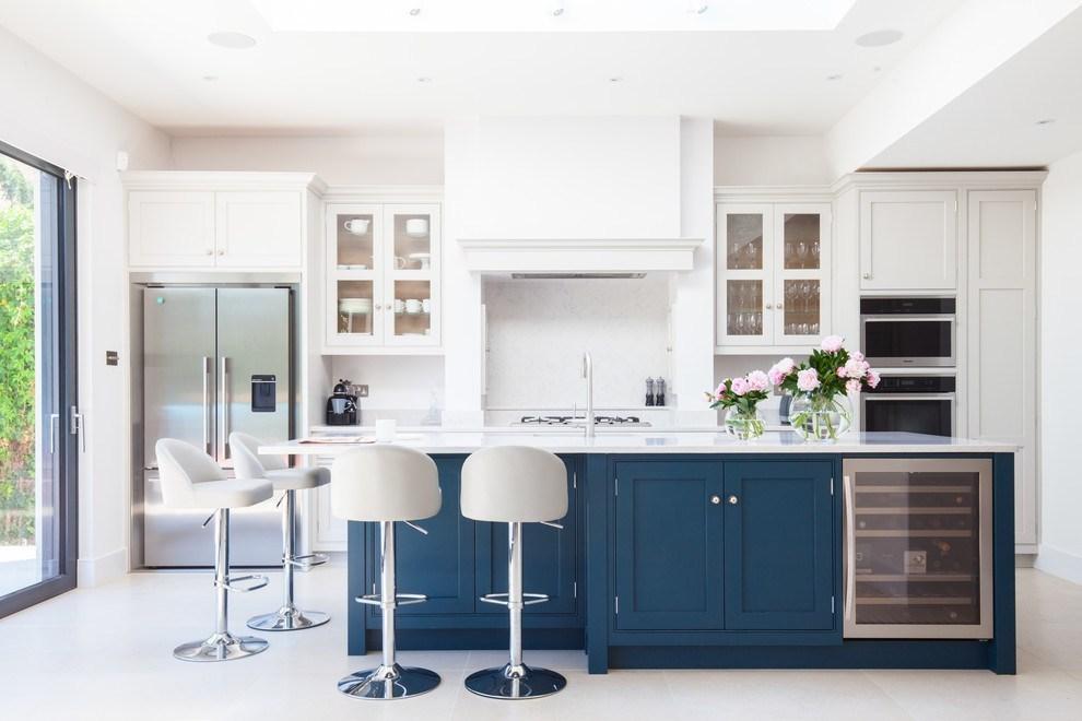 Hé lộ 9 mẫu tủ bếp hiện đại đẹp tông màu xanh đốn tim triệu người 07