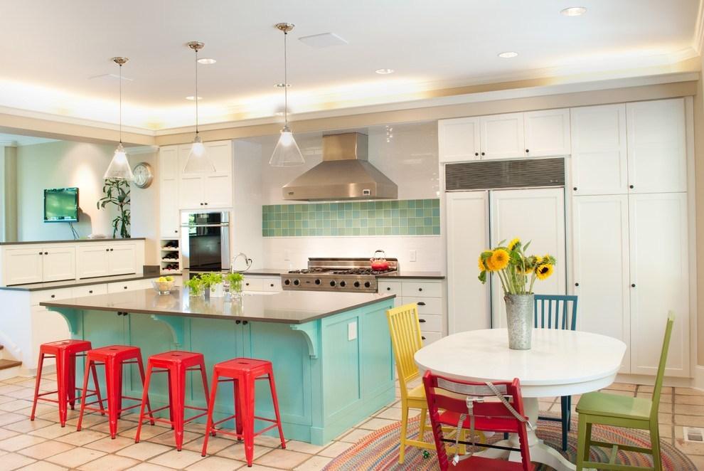 Hé lộ 9 mẫu tủ bếp hiện đại đẹp tông màu xanh đốn tim triệu người 08