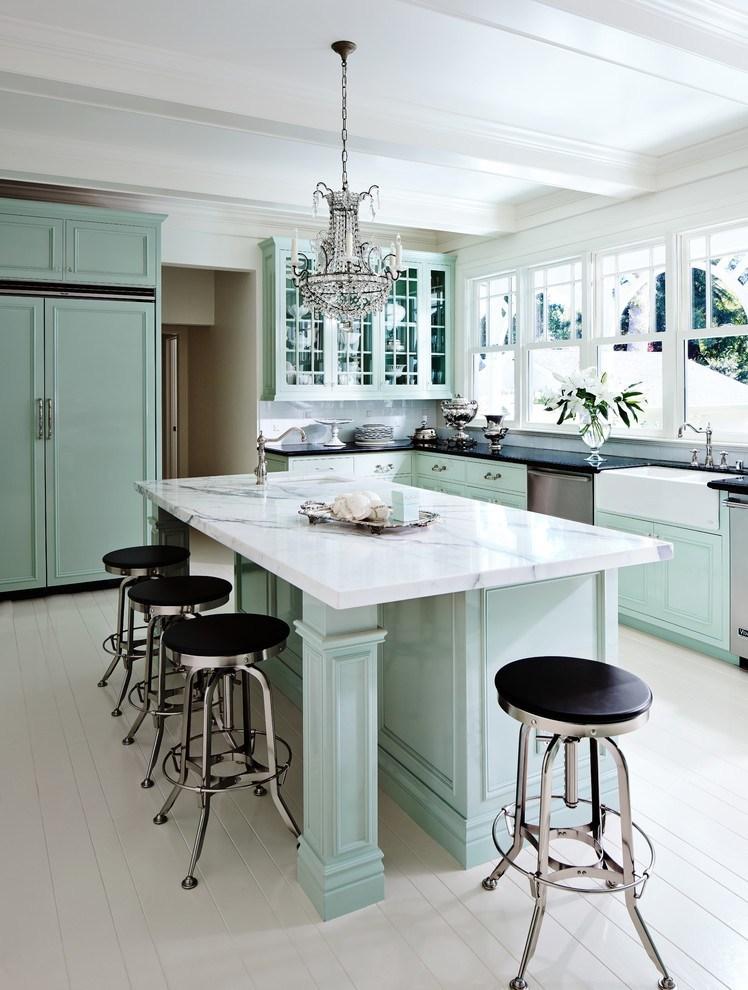Hé lộ 9 mẫu tủ bếp hiện đại đẹp tông màu xanh đốn tim triệu người 09