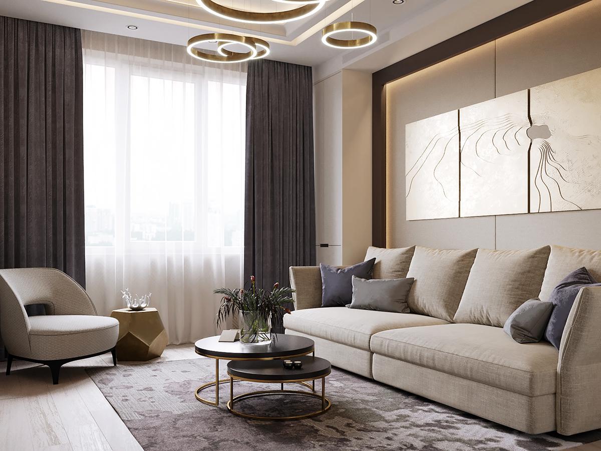 Học cách thiết kế nội thất phòng khách tối giản theo xu hướng hiện đại