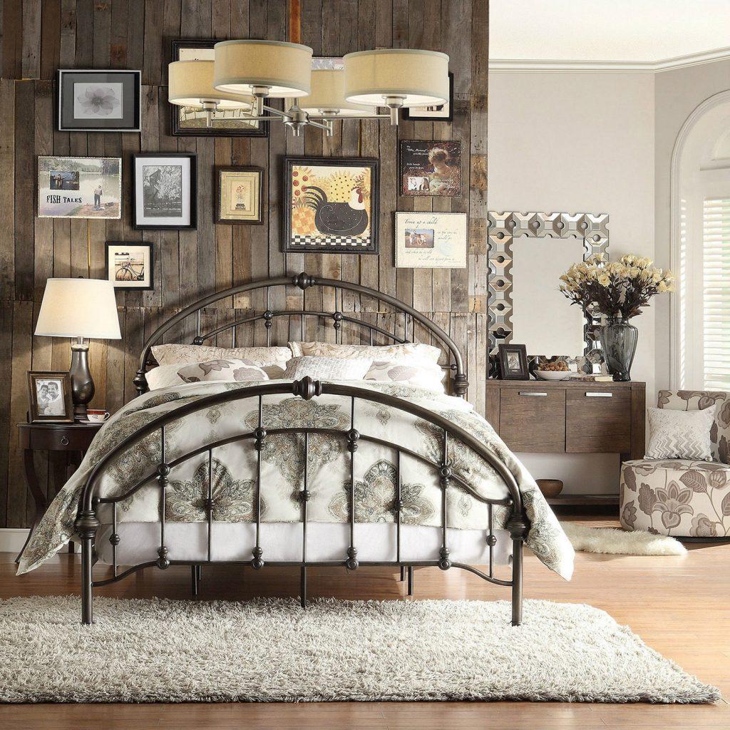 Thiết kế phòng ngủ đơn giản theo phong cách Vintage hoài cổ 01