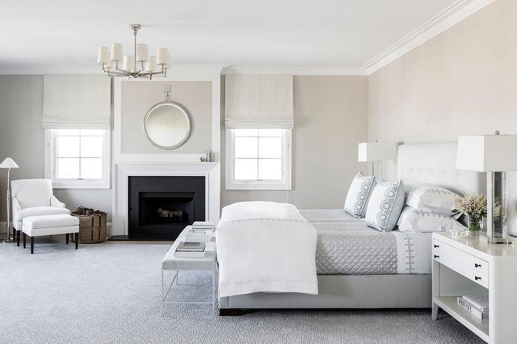 Thiết kế phòng ngủ tông trắng đẹp thanh tú cho mái ấm mơ ước