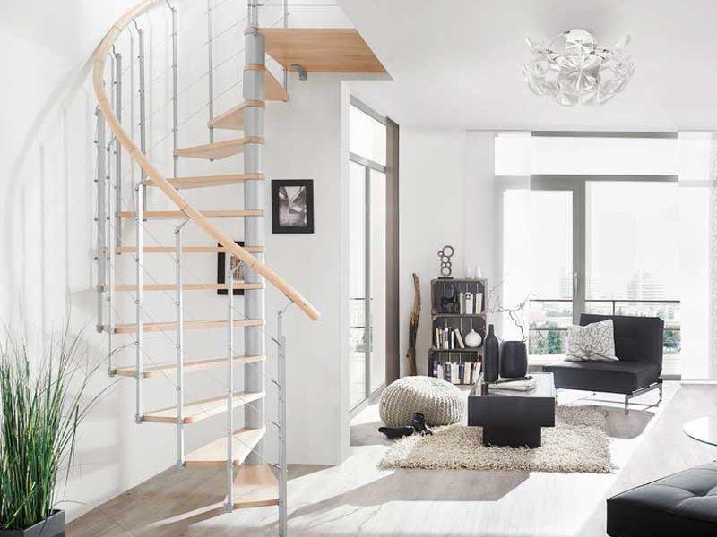 Thiết kế cầu thang dọc nhà