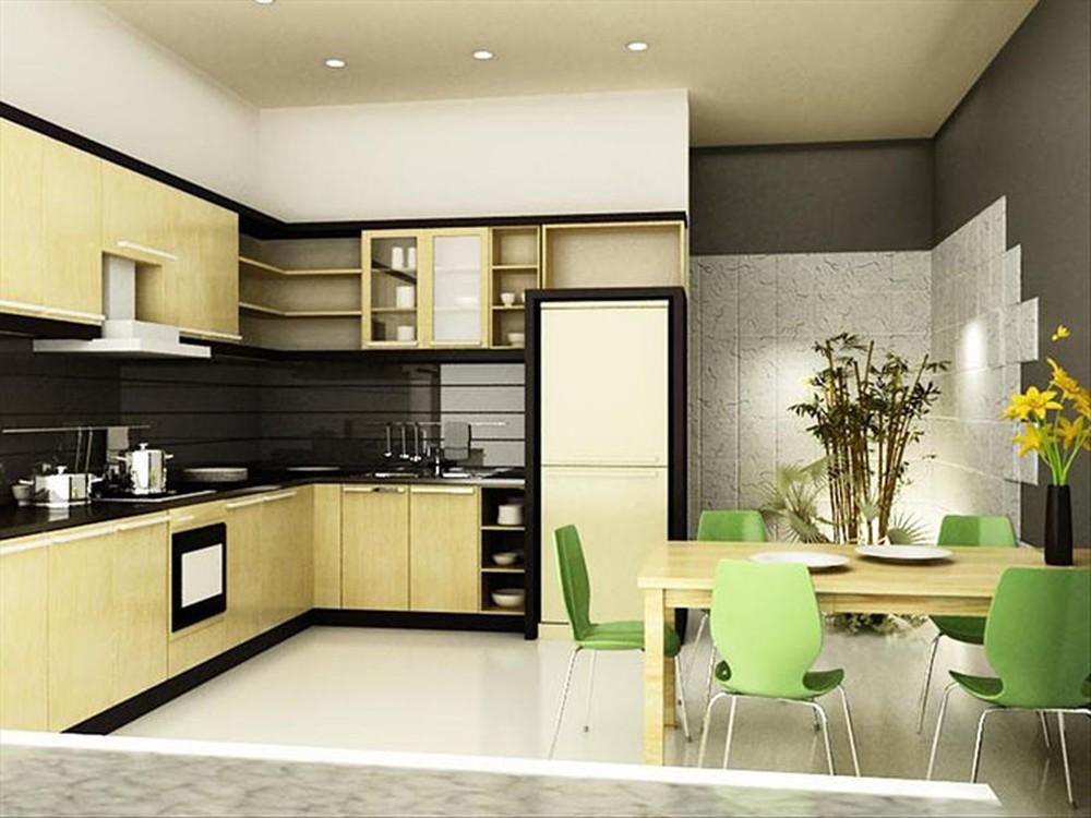 nội thất phòng bếp cho nhà ống