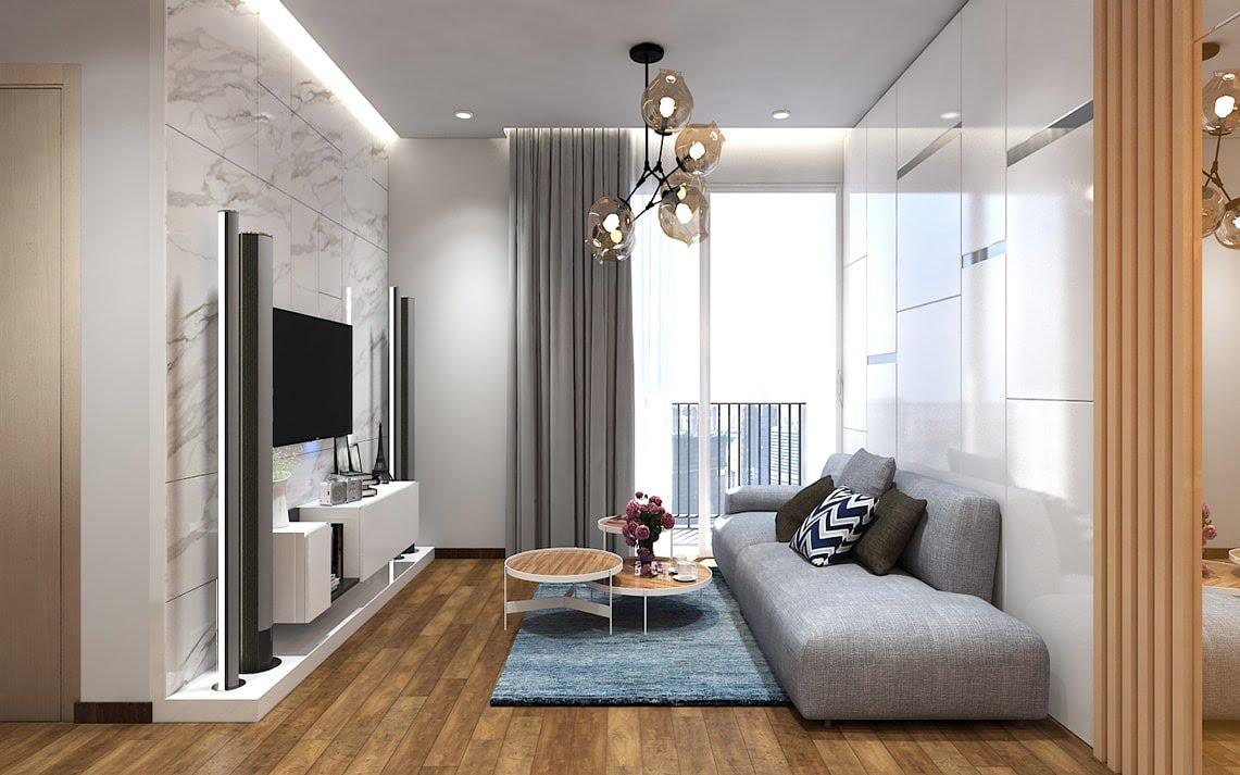 thiết kế phòng khách 14m2