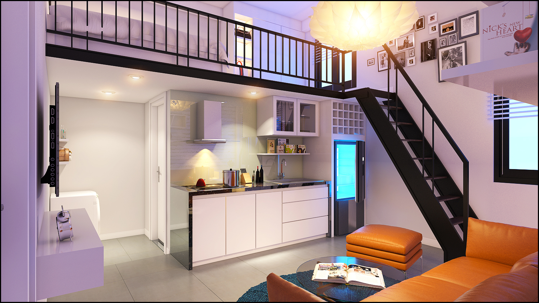 mẫu căn hộ mini